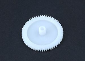 10 x 40 mm Diameter Plastic Cog Wheels for 4mm Motor Shaft, 60 Tooth Gears. S7095